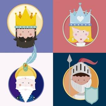 Colección de personajes medievales