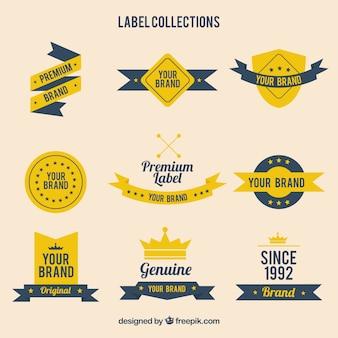 Colección de plantillas de etiquetas
