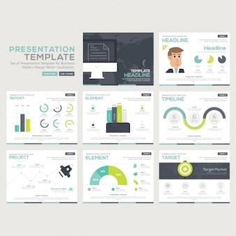 Colección de plantillas de infografías