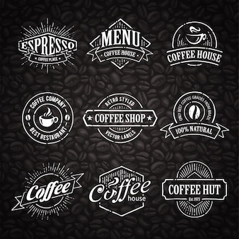 Colección de plantillas de logo de café