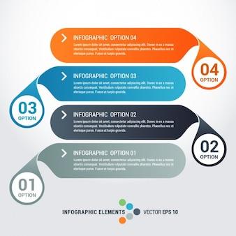 Colección de plantillas infográficas horizontales