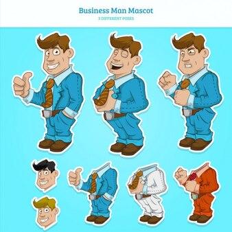 Colección de poses de hombre de negocio