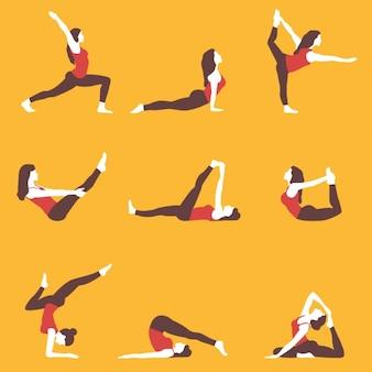 Colección de poses de yoga
