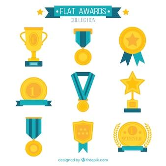 Colección de premios planos