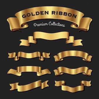 Colección de ribbons dorados