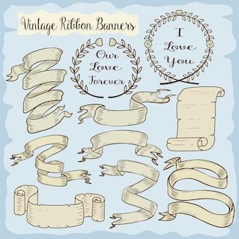 Colección de ribbons vintage