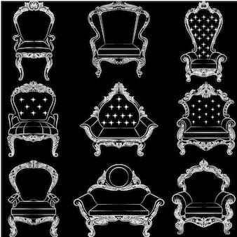 Colección de sillas elegantes