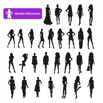 Colección de siluetas de modelos