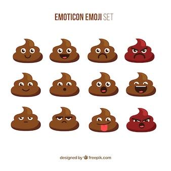 Colección de simpáticos emoticonos