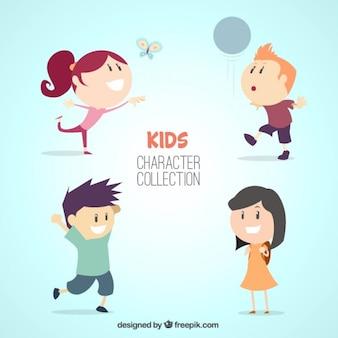Colección de simpáticos personajes de niños