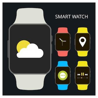 Colección de smartwatch planos