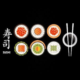Colección de sushi