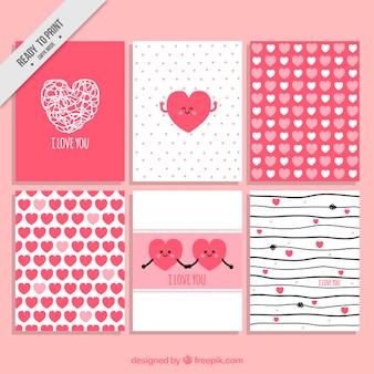 Colección de tarjetas de amor para  un día especial