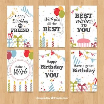 Colección de tarjetas de cumpleaños clásicas
