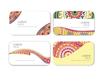 Colección de tarjetas de mandalas