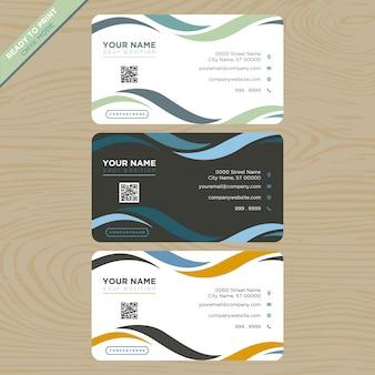 Colección de tarjetas de presentación con lazos
