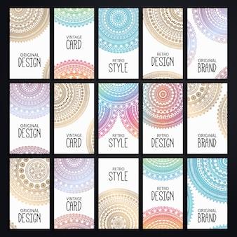 Colección de tarjetas de visita de mandala