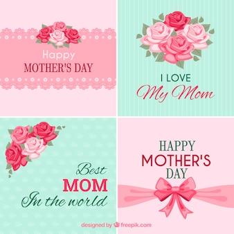 Colección de tarjetas del día de la madre