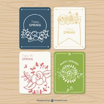 Colección de tarjetas primaverales bonitas