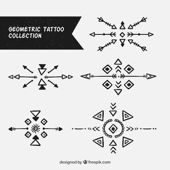 Colección de tatuajes étnicos dibujados a mano