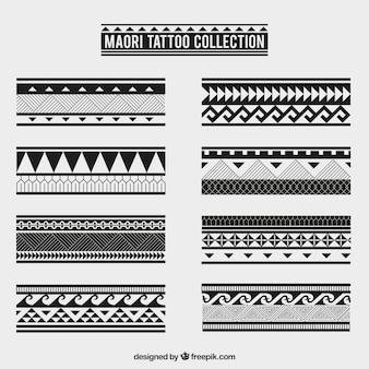 Colección de tatuajes tribales maoríes
