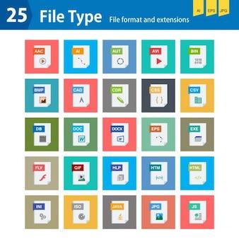 Colección de tipos de archivos
