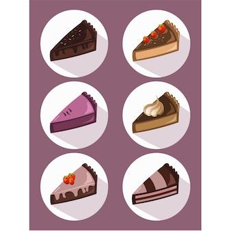 Colección de trozos de tarta