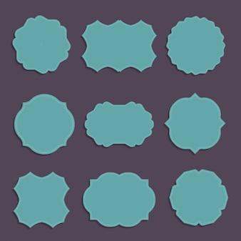 Colección de varias etiquetas con formas elegantes