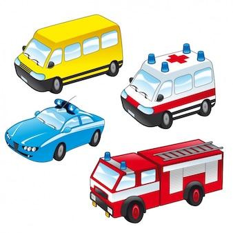 Colección de vehículos de servicio público