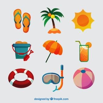 Colección de verano con elementos