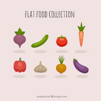 Colección de verduras saludables
