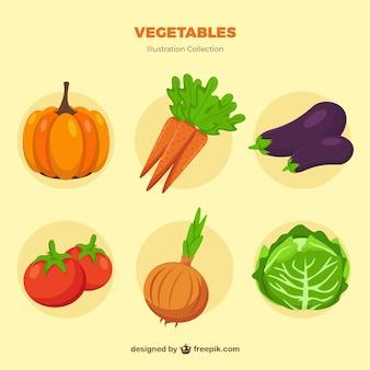 Colección de verduras