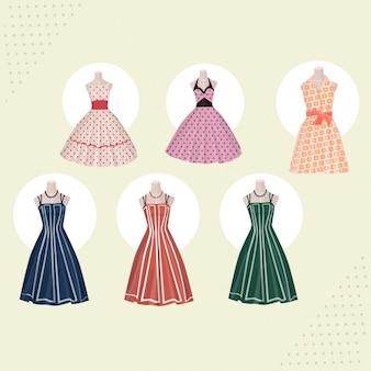 Colección de vestidos retro