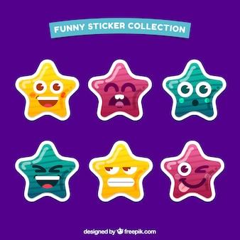 Colección divertida de pegatinas de estrellas