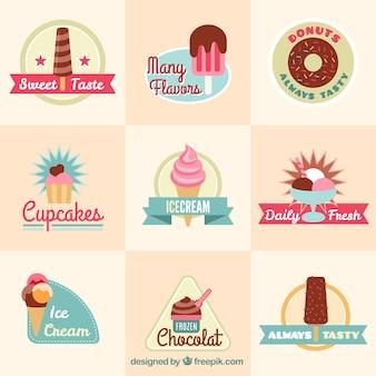 Colección dulces deliciosos
