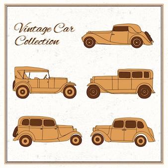 Colección fantástica de coches vintage
