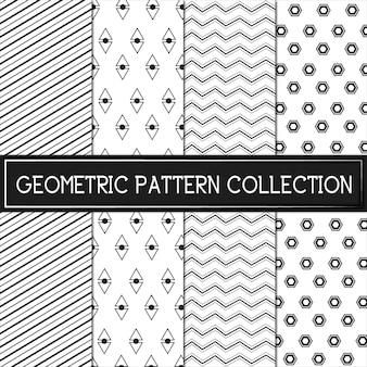 Colección geométrica blanco y negro del modelo