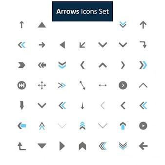 Colección iconos flechas