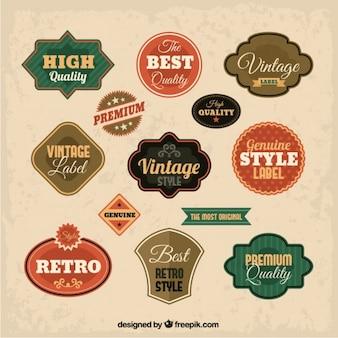 Colección insignias vintage
