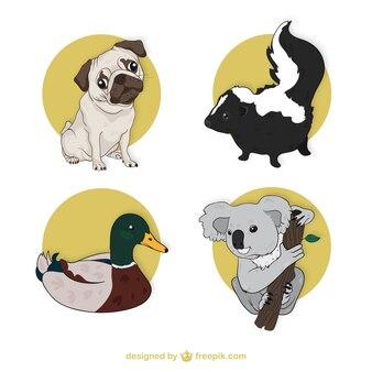 Colección linda de animales