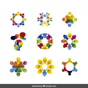 Colección Logos hecho con los avatares humanos