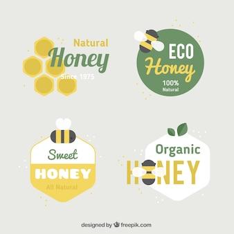 Colección logotipos de miel