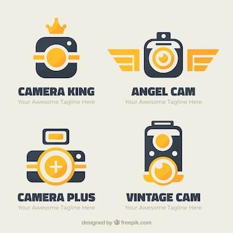 Colección moderna de logos coloridos de cámaras
