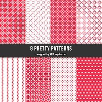 Colección patrones retro geométricos