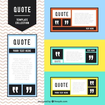 Colección plantillas de citas en diseño moderno
