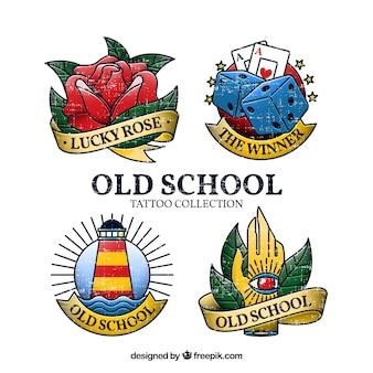 Colección tatuajes emblemas old school