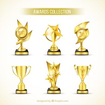 Colección trofeo de oro