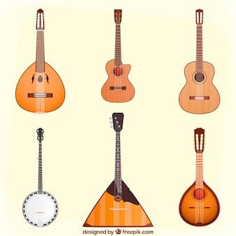 Colección variada de guitarras