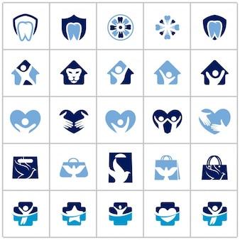 Colección variada de logos