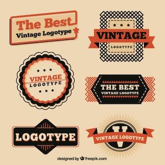 Colección vintage de logotipos
